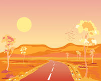 Ξηρά Αυστραλία διανυσματική απεικόνιση