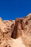 Ξηρά βουνά ερήμων Atacama Στοκ εικόνα με δικαίωμα ελεύθερης χρήσης