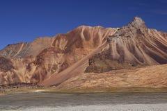 ξηρά βουνά ladakh Στοκ Φωτογραφία