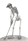 Ξηρά ημέρα γκολφ κρανίων τέχνης του νεκρού φεστιβάλ Στοκ εικόνα με δικαίωμα ελεύθερης χρήσης