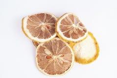 Ξηρά κομμάτια του λεμονιού Στοκ Εικόνες