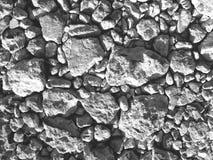 Ξηρά πίσω και άσπρη, τοπ άποψη σύστασης βράχου Στοκ Εικόνες