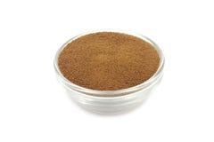 Ξηρά σκόνη διαλυτού καφέ στοκ εικόνες