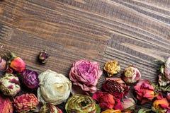 Ξηρά τριαντάφυλλα όπως η ανασκόπηση είναι μπορεί χρησιμοποιημένοι κάρτα βαλεντίνοι Στοκ Εικόνα