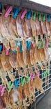 Ξηρά τρόφιμα οδών καλαμαριών Στοκ φωτογραφία με δικαίωμα ελεύθερης χρήσης