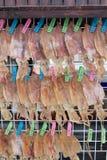 Ξηρά τρόφιμα οδών καλαμαριών Στοκ Εικόνες