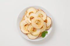 Ξηρά τσιπ μήλων Στοκ Εικόνες