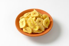 Ξηρά τσιπ μπανανών Στοκ φωτογραφίες με δικαίωμα ελεύθερης χρήσης