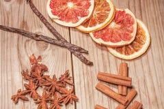 Ξηρά φρούτα και καρύκευμα Στοκ εικόνα με δικαίωμα ελεύθερης χρήσης