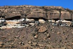 Ξηρά δύσκολη ορεινή έκταση στο πορτοκαλί ελεύθερο κράτος, Νότια Αφρική Στοκ Εικόνα