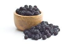 Ξηρά chokeberries Μαύρα μούρα aronia Στοκ Εικόνες