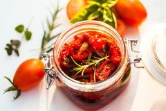 ξηρές ντομάτες ήλιων Στοκ Φωτογραφίες