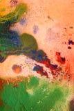 Ξηρές ραβδώσεις του πολύχρωμου χρώματος με τις ρωγμές Στοκ φωτογραφίες με δικαίωμα ελεύθερης χρήσης