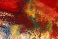 Ξηρές ραβδώσεις του πολύχρωμου χρώματος με τις ρωγμές Στοκ Φωτογραφία