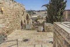 ξηρές της Ιερουσαλήμ οδοί οδών λινού καθαρές στοκ εικόνα