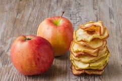 ξηρές φέτες μήλων Στοκ Φωτογραφία