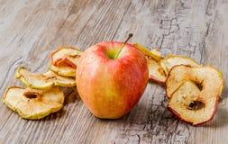 ξηρές φέτες μήλων Στοκ εικόνα με δικαίωμα ελεύθερης χρήσης