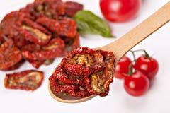 ξηρές φρέσκες ντομάτες ήλι&o Στοκ Εικόνα