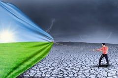 Ξηρασία αλλαγής επιχειρηματιών για η εποχή απεικόνιση αποθεμάτων