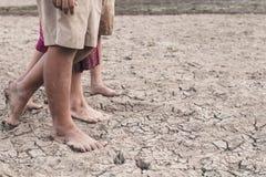 Ξηρασία που προκαλείται από τη έλλειψη νερού στοκ εικόνες