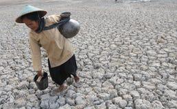 Ξηρασία στην Ινδονησία στοκ φωτογραφία