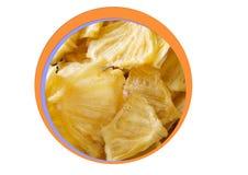 Ξηρός ανανάς για το φαγητό-δάγκωμα Στοκ εικόνα με δικαίωμα ελεύθερης χρήσης