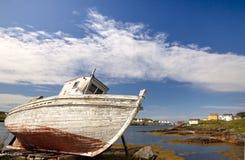 Ξηρός-ελλιμενισμένος στο νησί νέα γη Καναδάς αλλαγής Στοκ Εικόνες