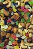 Ξηρός - φρούτα και θεραπευμένος στοκ εικόνες
