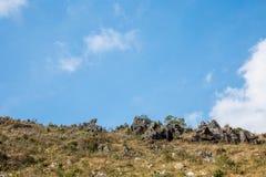 Ξηρός λόφος με το σαφή ουρανό Στοκ φωτογραφία με δικαίωμα ελεύθερης χρήσης