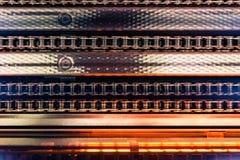 Ξηρότερα πορτοκαλιά κενά ομοιώματα Χ παραγωγής εργοστασίων αλυσίδων βιομηχανικά Στοκ εικόνα με δικαίωμα ελεύθερης χρήσης