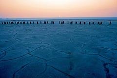ξηρό άλας λιμνών επάνω Στοκ Εικόνα