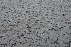 Ξηρό έδαφος με το χιόνι Στοκ φωτογραφία με δικαίωμα ελεύθερης χρήσης