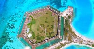 Ξηρό εθνικό πάρκο Tortugas, οχυρό Jefferson Φλώριδα ΗΠΑ Στοκ Φωτογραφία