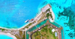 Ξηρό εθνικό πάρκο Tortugas, οχυρό Jefferson Φλώριδα ΗΠΑ Στοκ Εικόνα