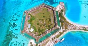 Ξηρό εθνικό πάρκο Tortugas, οχυρό Jefferson Φλώριδα ΗΠΑ Στοκ εικόνες με δικαίωμα ελεύθερης χρήσης