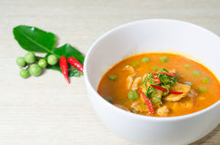 Ξηρό κόκκινο κάρρυ καρύδων χοιρινού κρέατος (Panaeng) Στοκ φωτογραφία με δικαίωμα ελεύθερης χρήσης