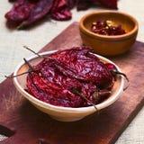 Ξηρό κόκκινο πιπέρι τσίλι Aji Στοκ εικόνα με δικαίωμα ελεύθερης χρήσης
