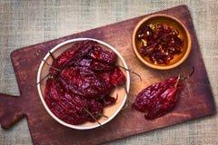 Ξηρό κόκκινο πιπέρι τσίλι Aji Στοκ φωτογραφία με δικαίωμα ελεύθερης χρήσης