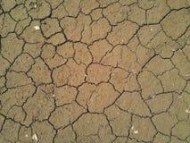 Ξηρό ξηρό χώμα στην κοίτη ποταμού Στοκ Εικόνες