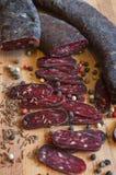 Λουκάνικο σαλαμιού Στοκ φωτογραφία με δικαίωμα ελεύθερης χρήσης