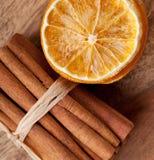 ξηρό πορτοκάλι κανέλας Στοκ εικόνες με δικαίωμα ελεύθερης χρήσης
