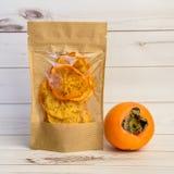 Ξηρό πορτοκαλί persimmon Στοκ Εικόνες