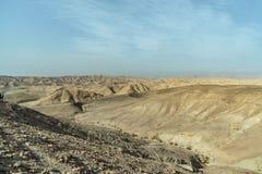 Ξηρό τοπίο ερήμων Judean κοντά στη νεκρή θάλασσα στο Ισραήλ Στοκ φωτογραφίες με δικαίωμα ελεύθερης χρήσης