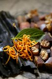 ξηρό φύκι διατροφής συστατικών φυσικό Στοκ Φωτογραφίες