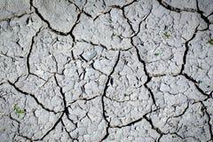 Ξηρό χώμα με τη ραγισμένη επιφάνεια Στοκ εικόνα με δικαίωμα ελεύθερης χρήσης