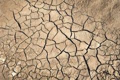 ξηρό χώμα ρωγμών Στοκ Εικόνες