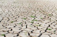 Ξηρό χώμα ρωγμών Στοκ εικόνα με δικαίωμα ελεύθερης χρήσης