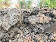 Ξηρό χώμα στο εργοτάξιο οικοδομής Στοκ φωτογραφία με δικαίωμα ελεύθερης χρήσης