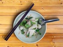ξηρό noodle κεφτών λεπτό Στοκ Εικόνα