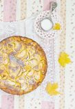 Ξινή πίτα κρέμας της Apple Στοκ εικόνες με δικαίωμα ελεύθερης χρήσης
